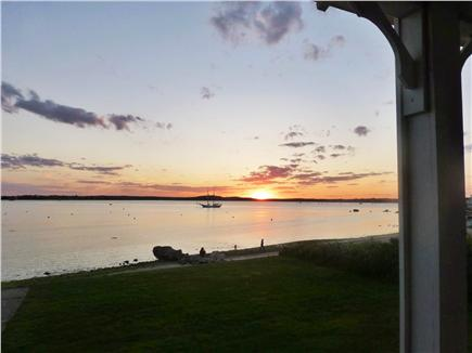 Bourne, Monument  Beach Cape Cod vacation rental - Sunset from the porch