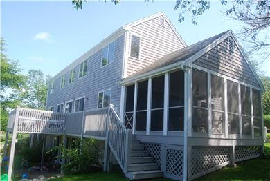 Barnstable Cape Cod vacation rental - Screened Porch for dining and Deck for Sunning