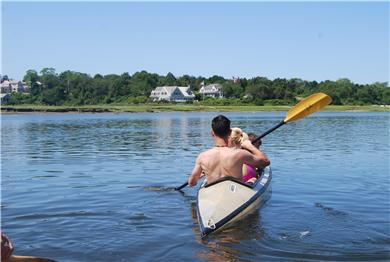 Barnstable Cape Cod vacation rental - Kayaking Back to  the Property
