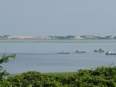 Barnstable Cape Cod vacation rental - View of Barnstable Harbor & Sandy Neck - High Tide