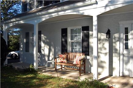 East Orleans Cape Cod vacation rental - Enjoy sipping wine at sunset on cushioned porch benches