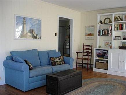 East Orleans Cape Cod vacation rental - French doors in family room open to deck