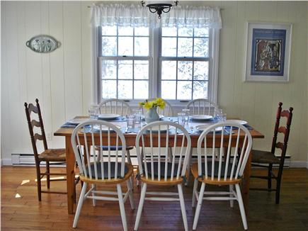 East Orleans Cape Cod vacation rental - Dining table seats 8-10, opens directly to deck and kitchdn