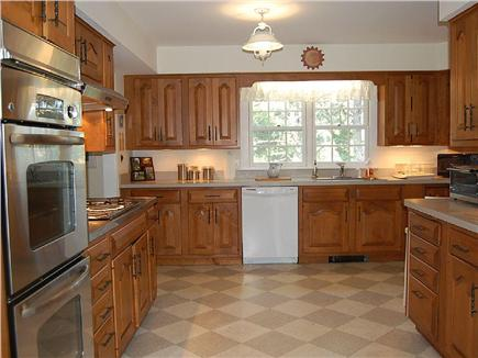 East Orleans Cape Cod vacation rental - New GE stainless steel double oven, exhaust hood, and cooktop