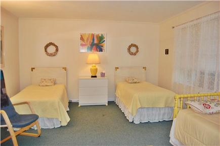 East Orleans Cape Cod vacation rental - Air conditioned bedroom with twin beds child's bed, desk, and TV