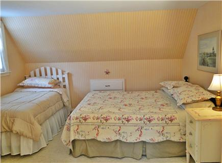 Falmouth Cape Cod vacation rental - Queen bedroom upstairs with twin bed