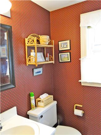 Falmouth Cape Cod vacation rental - First floor bathroom, Full bath upstairs