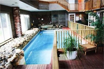 West Dennis Cape Cod vacation rental - Spectacular Great Room with Indoor Pool w/decks,balconies,views