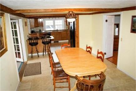 West Dennis Cape Cod vacation rental - Huge dining area w/French Doors overlooking heated indoor pool