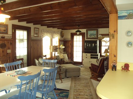 Dennisport Cape Cod vacation rental - Open kitchen to dining & living area