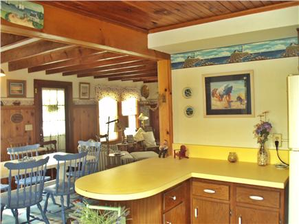 Dennisport Cape Cod vacation rental - Open kitchen to dining to livingroom