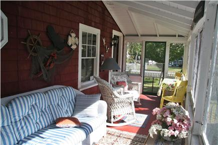 Dennisport Cape Cod vacation rental - Screened in porch, perfect for an afternoon nap, to play a game.