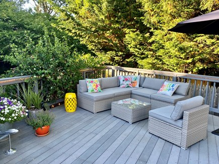 Provincetown Cape Cod vacation rental - Outdoor seating on huge private deck