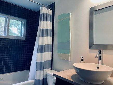Provincetown Cape Cod vacation rental - Main bathroom with monument view