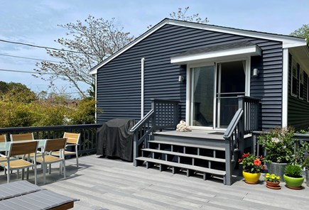 Provincetown Cape Cod vacation rental - Back deck entry