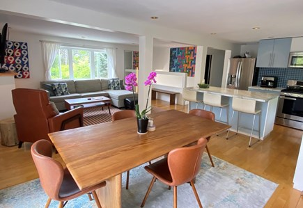 Provincetown Cape Cod vacation rental - Ding room into living room