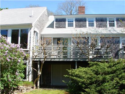 East Orleans Cape Cod vacation rental - Enjoy dinner or afternoon drinks on the deck overlooking yard