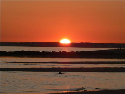 Dennisport Cape Cod vacation rental - Beautiful sunset from our private beach
