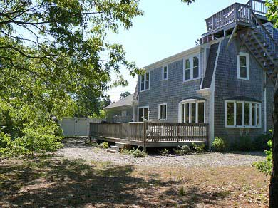 Dennisport Cape Cod vacation rental - Large full length deck as well as rooftop deck and outdoor shower