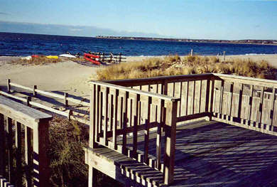Centerville, Craigville Beach Centerville vacation rental - Condo's deck overlooking beach