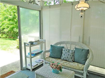 South Dennis Cape Cod vacation rental - Relax on the sun porch, sliders to patio