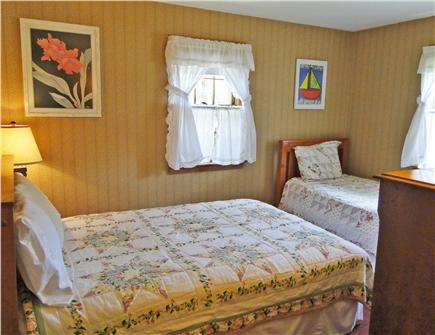 South Dennis Cape Cod vacation rental - Bedroom off living room with double bed, twin bed and dresser