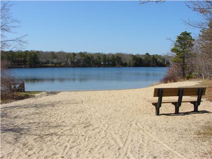 South Yarmouth Cape Cod vacation rental - Walk 5 minutes to neighborhood beach on Long Pond- swim & kayak