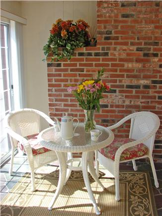 South Yarmouth Cape Cod vacation rental - Enjoy your morning coffee on the warm sun porch