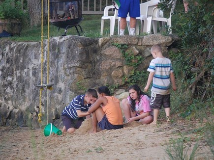 Wareham MA vacation rental - Making sand castles on the beach