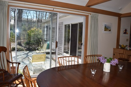 Centerville, Bordering West Hyannisport  Centerville vacation rental - View of patio from the Dining room