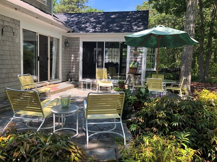 Centerville, Bordering West Hyannisport  Centerville vacation rental - View across patio to house