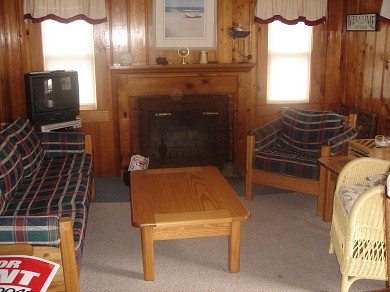 Dennisport Cape Cod vacation rental - Fireplaced Living Room