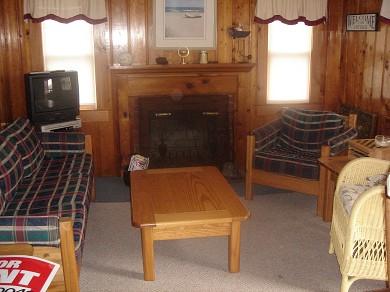 Dennisport Cape Cod vacation rental - Fireplaced Living Room