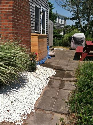 Dennisport Cape Cod vacation rental - Private side patio