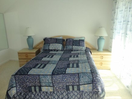 Hyannis Cape Cod vacation rental - Queen size bed with sliders to private deck