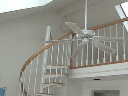 Hyannis Cape Cod vacation rental - Spiral stairs to sleeping loft