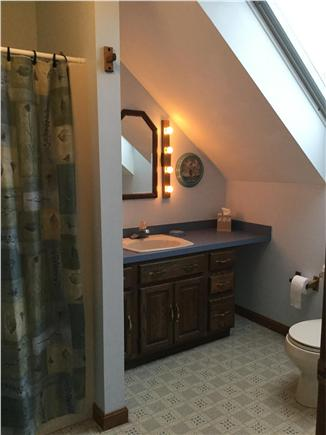 Truro Cape Cod vacation rental - 2nd floor bathroom with shower.