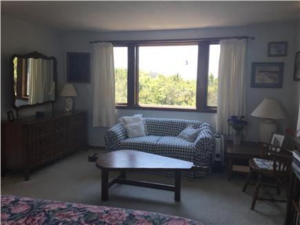 Truro Cape Cod vacation rental - 2nd floor master bedroom with partial water view.