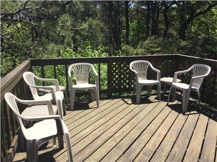 Truro Cape Cod vacation rental - 1st floor deck off dining/living area in privacy of the pines.