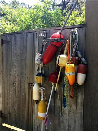 Truro Cape Cod vacation rental - Enclosed outdoor shower with hot and cold water.