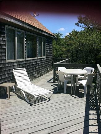 North Truro Cape Cod vacation rental - Second floor deck off family room.