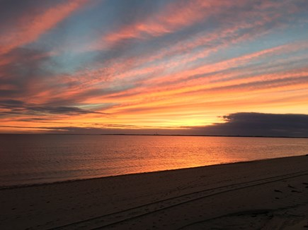 North Truro Cape Cod vacation rental - Beautiful sunset from the bay beach, 5 minute walk from our home.