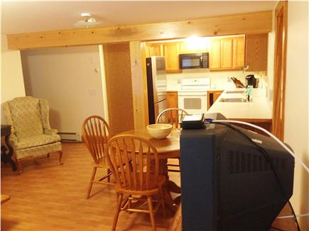 East Dennis Cape Cod vacation rental - Downstairs living room into open kitchen