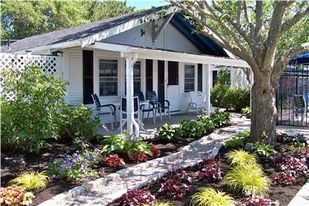 Dennisport Cape Cod vacation rental - Enjoy morning coffee on your private porch.