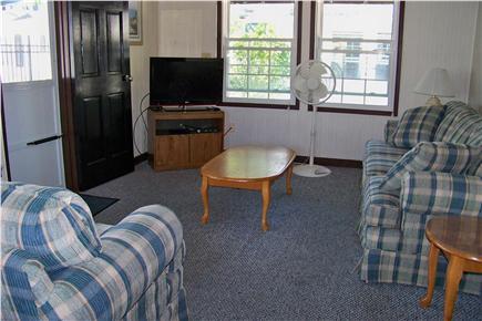 Dennisport Cape Cod vacation rental - Comfortable living room w/ flatscreen HDTV and DVD player