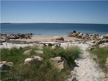 Bourne, Cataumet, Scraggy Neck Cape Cod vacation rental - Your own sandy private beach, just steps down the path.