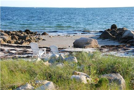 Bourne, Cataumet, Scraggy Neck Cape Cod vacation rental - Time to Relax on the Beach with our Table Rock.