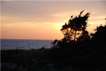 Bourne, Cataumet, Scraggy Neck Cape Cod vacation rental - Sunset to welcome the evening.