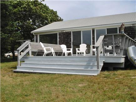 Bourne, Cataumet, Scraggy Neck Cape Cod vacation rental - Waterside Deck with lots of room for outdoor dining.