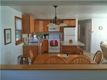 Bourne, Cataumet, Scraggy Neck Cape Cod vacation rental - Dining Room and Kitchen part of open floor plan.